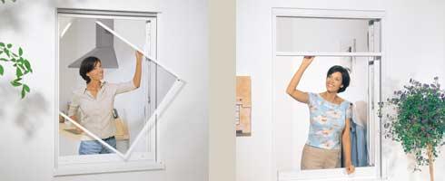 Neher Insektenschutz Fenster Spannrahmen Rollo